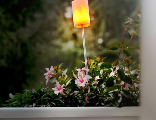 Sompex Outdoorleuchte Fiero | Wiederaufladbarer LED Gartenspieß aus Edelstahl | Gartenleuchte