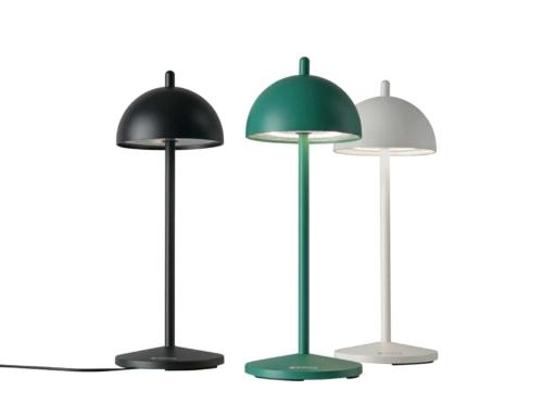 Musterring Tischleuchte LUNA in 3 Farben Schwarz, Grün und Weiß